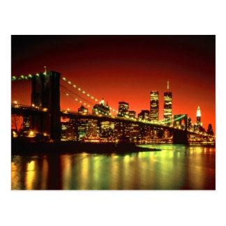 New- York Citylichter Postkarte