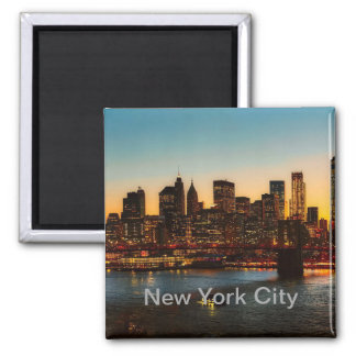 New- York Citymagnet, New York City Quadratischer Magnet