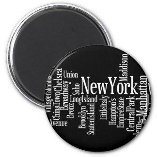 New- York Citymagnet Runder Magnet 5,7 Cm