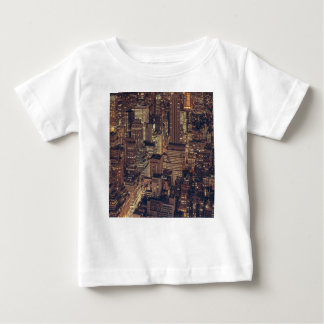 New- York CitynachtSkyline Baby T-shirt