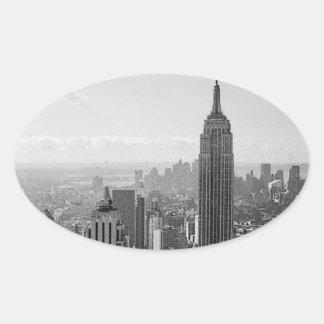 New- York Cityoval-Aufkleber Ovaler Aufkleber