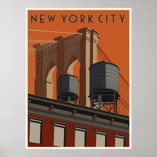 New- York Cityreiseplakat Posterdruck