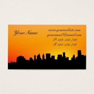 New- York CitySkyline am Sonnenuntergang, Visitenkarte