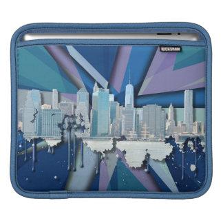 New- York CitySkyline | blaues 3D iPad Sleeve