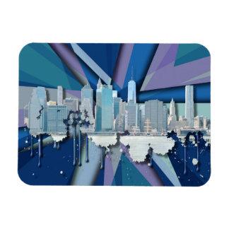 New- York CitySkyline | blaues 3D Magnet