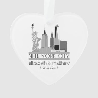 New- York CitySkyline-Hochzeit Ornament
