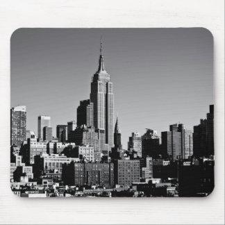 New- York CitySkyline in Schwarzweiss Mousepad