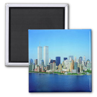 New- York CitySkyline Quadratischer Magnet