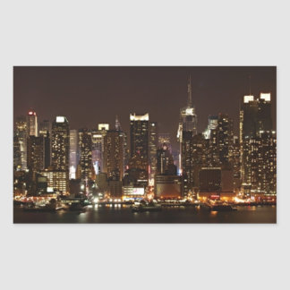 New- York CitySkyline Rechteckiger Aufkleber