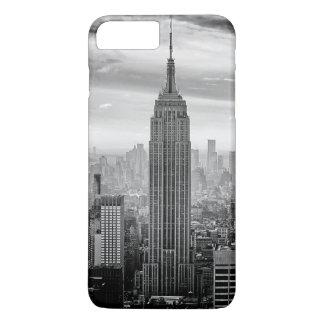 New- York CitySkyline Schwarzweiss iPhone 8 Plus/7 Plus Hülle