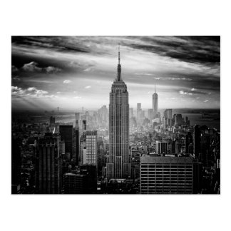New- York CitySkyline Schwarzweiss Postkarte