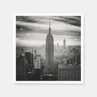 New- York CitySkyline Schwarzweiss Serviette