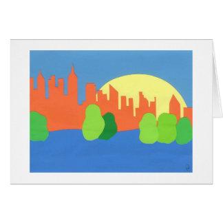 New- York Citysonnenaufgang Karte