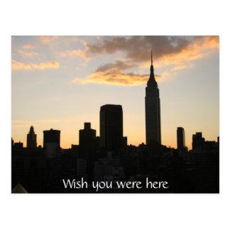 New- York Citysonnenuntergang Postkarte