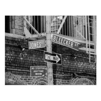 New- York CityStraßenschild-Postkarte Postkarte