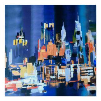 New- York Citywolkenkratzer abstrakt Poster