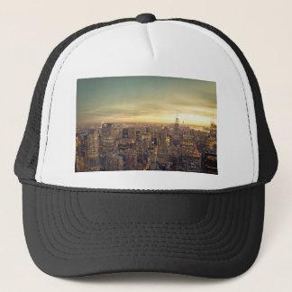 New- York Citywolkenkratzer-Skyline-Stadtbild Truckerkappe