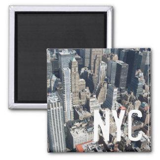 New- York Citywolkenkratzermagnet Quadratischer Magnet