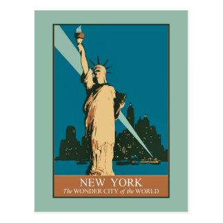 New York die Wunder-Stadt der Welt Postkarte