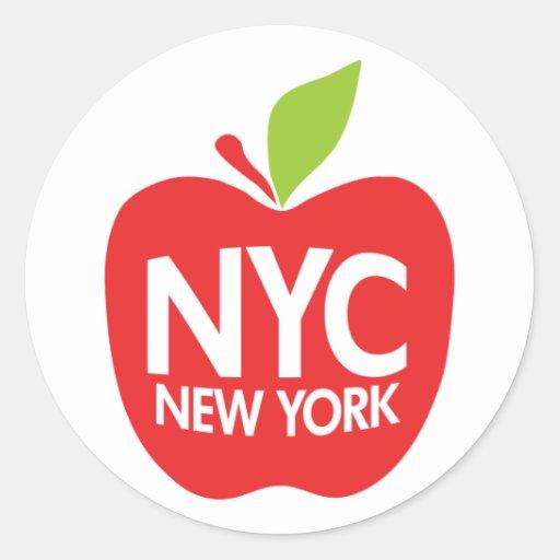 New York großes Apple Runde Sticker