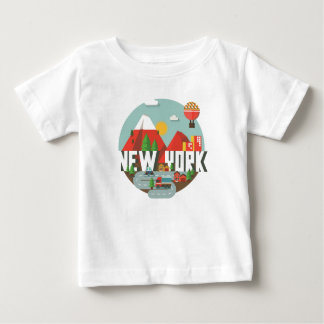New York im Entwurf Baby T-shirt