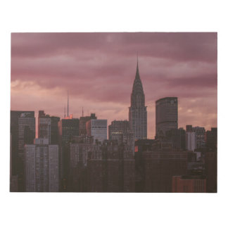 New York lila Skyline Notizblock
