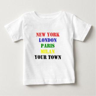 New York, London, Paris, Mailand, Ihr StadtT - T-shirt