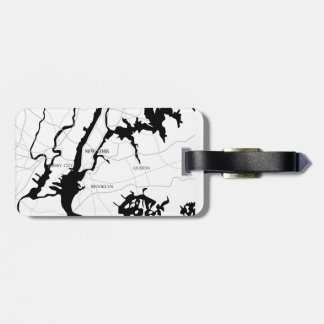 New York, modern, Karte Gepäckanhänger