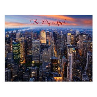 New York nachts Postkarten