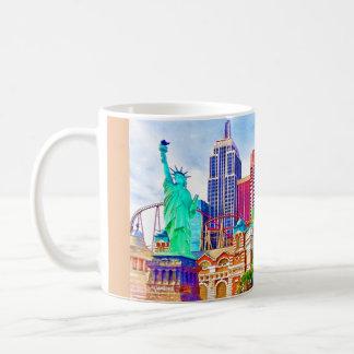 New York, New York in Las Vegas-Aquarell Kaffeetasse