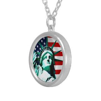 New York (NY) USA - Das Freiheitsstatue Versilberte Kette