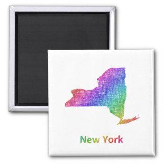 New York Quadratischer Magnet