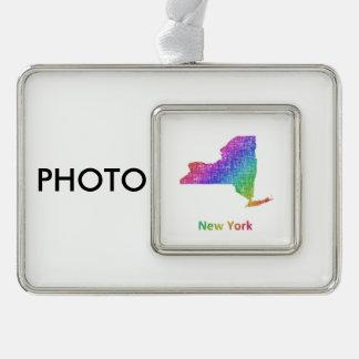 New York Rahmen-Ornament Silber