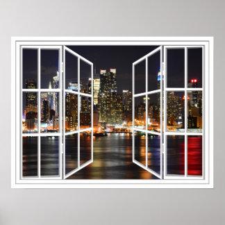 New York Scheiben-offenes Fenster-dem Plakat an de