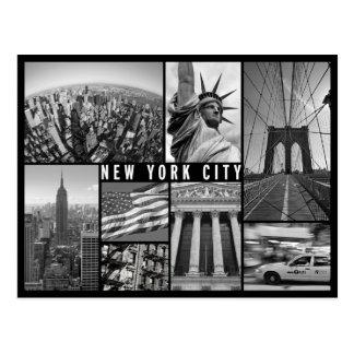 New York Schwarzweiss Postkarte