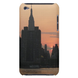 New York Skyline-Sonnenuntergang Barely There iPod Case