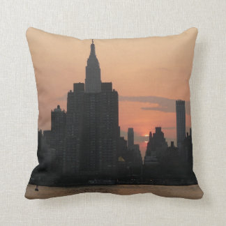 New York Sonnenuntergang-Skyline Kissen