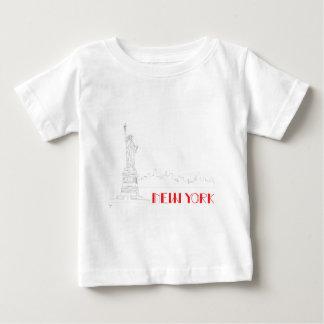 New York, Statue-von-Freiheit cool Baby T-shirt