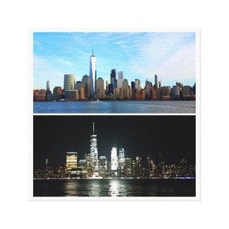 New York Tag und Nacht Leinwanddruck