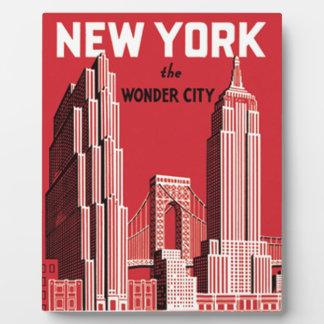 New York The City wonder Fotoplatte