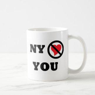 New York tut nicht Liebe Sie Kaffeetasse