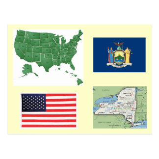 New York, USA Postkarte