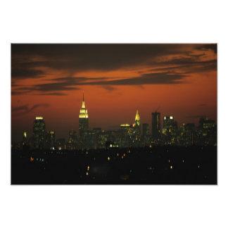 New York, USA. Skyline von im Norden Manhattan 2 Fotografische Drucke