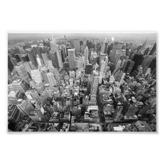 New York von oben Photographischer Druck