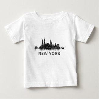 New York whit Skyline v07 Baby T-shirt