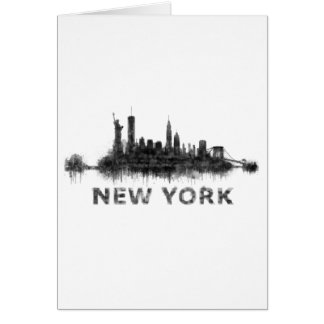New York whit Skyline v07 Karte