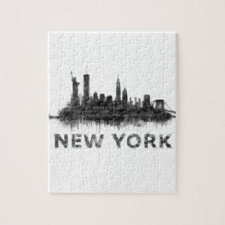New York whit Skyline v07 Puzzle