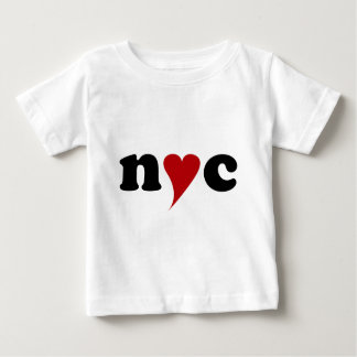 New York  with Heart Baby T-shirt