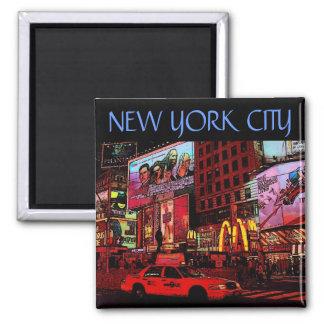 New York (Zeiten Quadrat.) Magnet Quadratischer Magnet