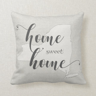 New York - Zuhause-süßer Zuhause Leinwandblick Kissen